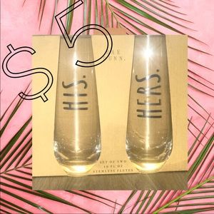 Other - His & Hers Stemless Champagne Flutes